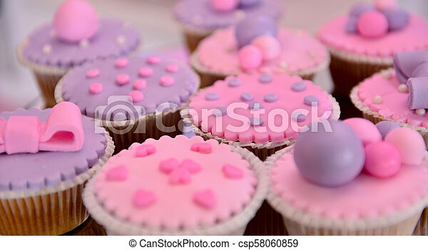 Tasty Cupcakes On A Girl Birthday