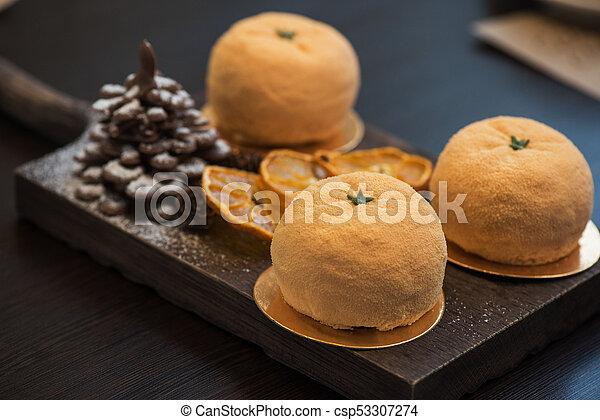 Tasty dessert for xmas - csp53307274