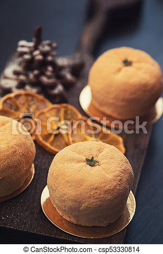 Tasty dessert for xmas - csp53330814