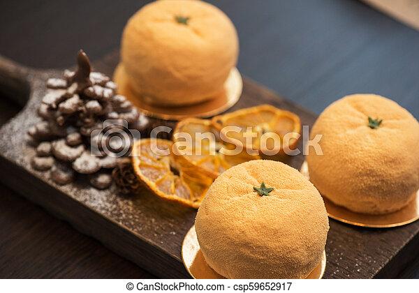 Tasty dessert for xmas - csp59652917
