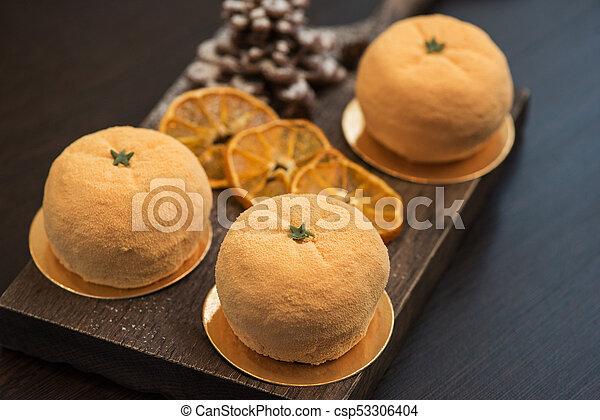 Tasty dessert for xmas - csp53306404