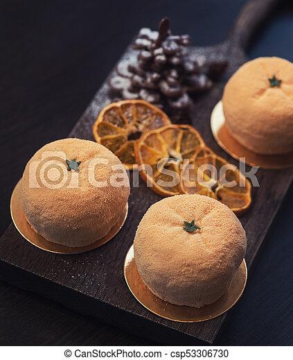 Tasty dessert for xmas - csp53306730