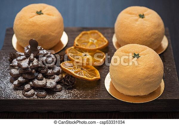 Tasty dessert for xmas - csp53331034