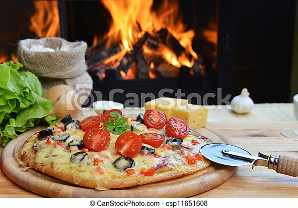 tasty pizza  - csp11651608
