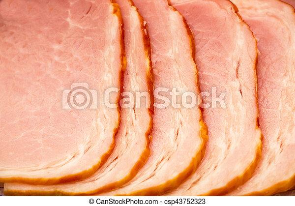 Tasty slices of ham - csp43752323