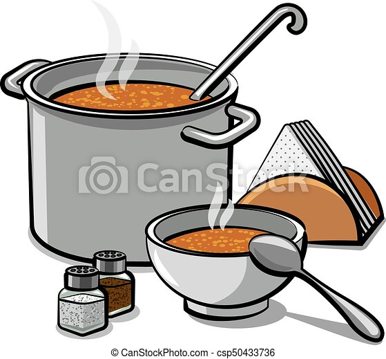 tasty soup in bowl - csp50433736
