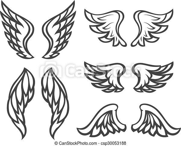 Tatoeëren Set Vleugels