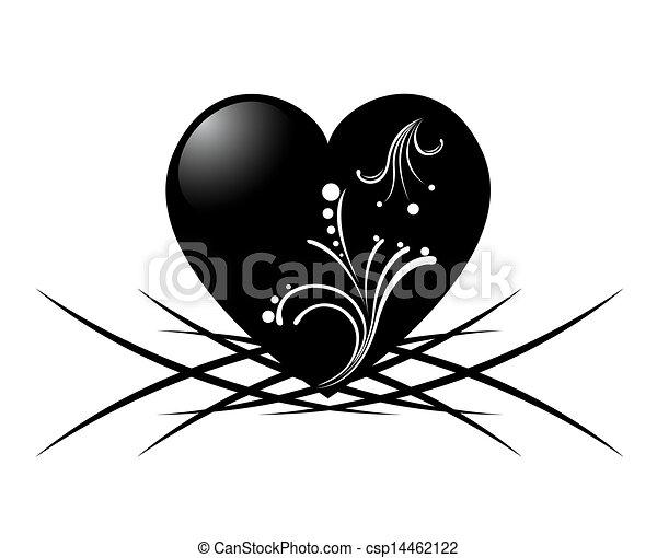 tatouage blanc noir w coeur coeur image mod le. Black Bedroom Furniture Sets. Home Design Ideas