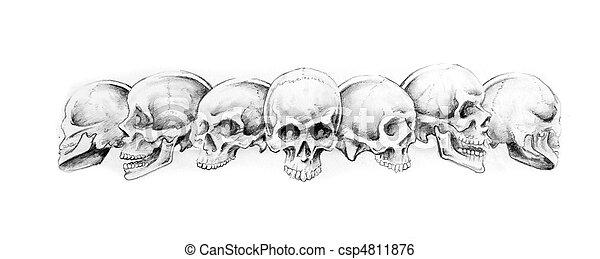 Préférence Images de tatouage, croquis, indien, bracelet, art csp4810098  WX51