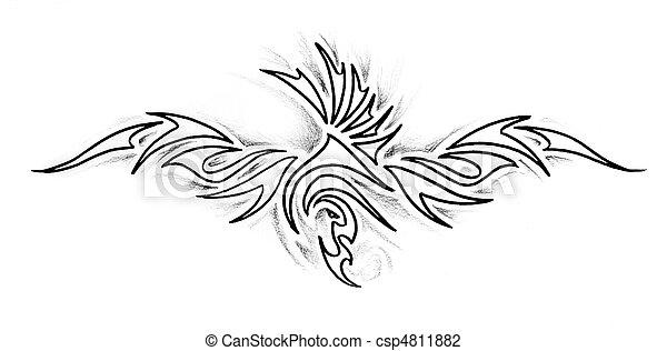 foto de Tatouage croquis indien bracelet art
