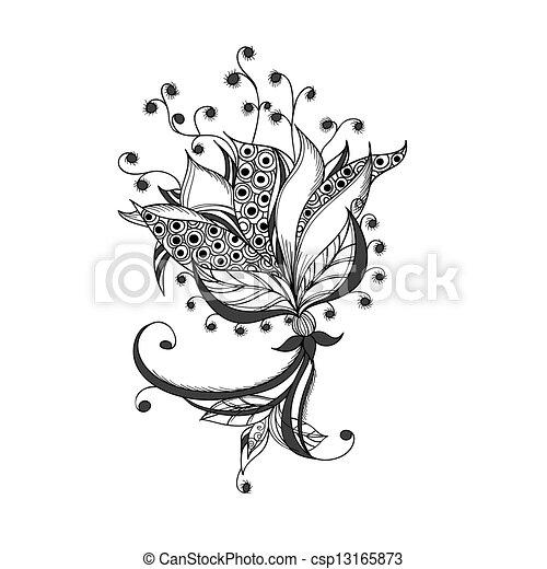 Tatouage Fleur Modele Fantasme Noir Blanc Tatouage Fleur