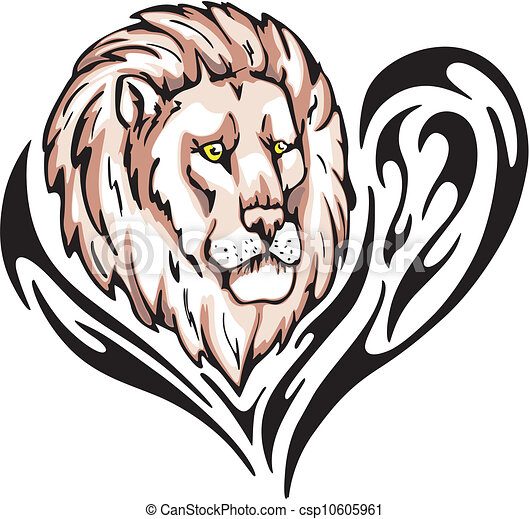 tatouage lion tatouage illustration couleur lion vecteur head. Black Bedroom Furniture Sets. Home Design Ideas