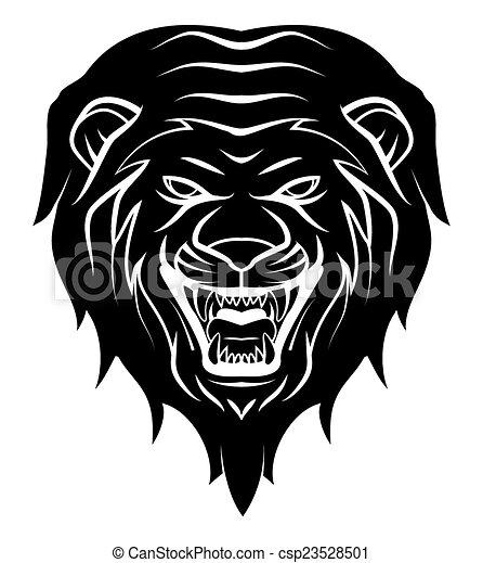 tatouage lion t te illustration. Black Bedroom Furniture Sets. Home Design Ideas