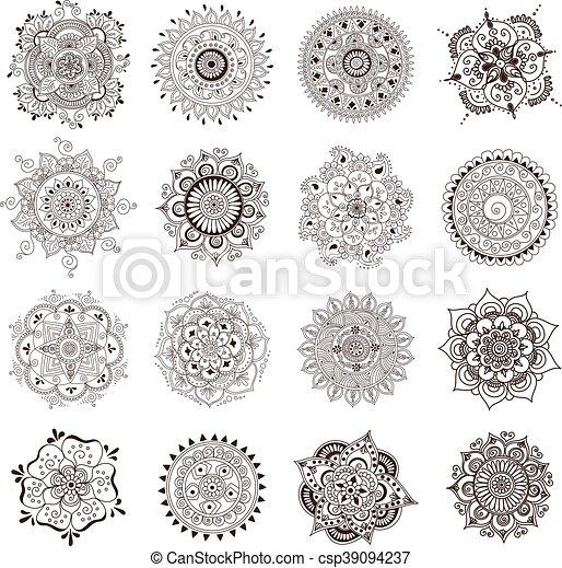Tatouage Mandala Ensemble Henné