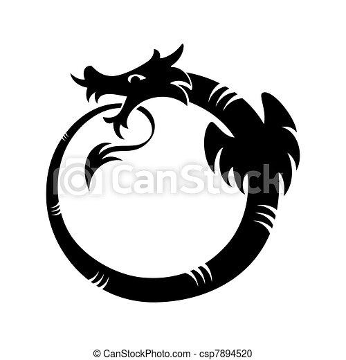 tatouage, ouroboros - csp7894520
