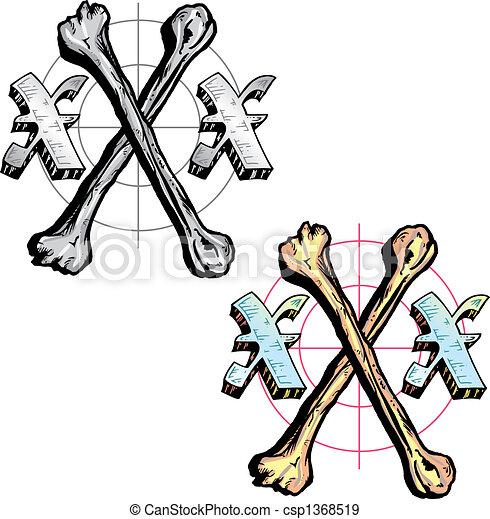 Tatouage Style Esprit Lettre X Tout Pertinent Symboles Inclure Triple Os Portefeuille Tatouage Style Details Canstock
