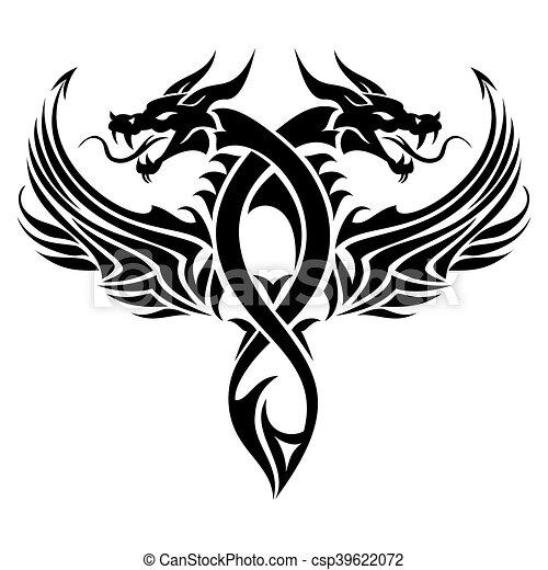 tatouage tribal dragon tatouage tribal illustration. Black Bedroom Furniture Sets. Home Design Ideas