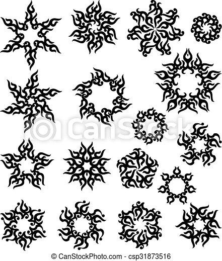 tatouage tribal flamme soleil conception tatouage art clipart vectoris recherchez. Black Bedroom Furniture Sets. Home Design Ideas