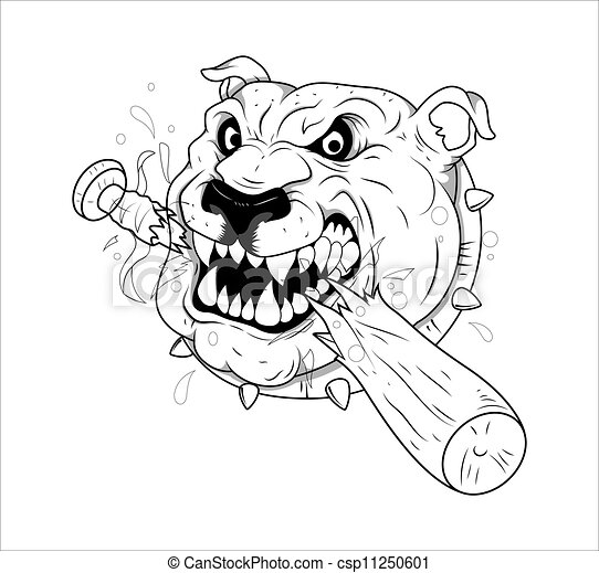 tatouage, vecteur, chien. tatouage, art, résumé, chien, créatif
