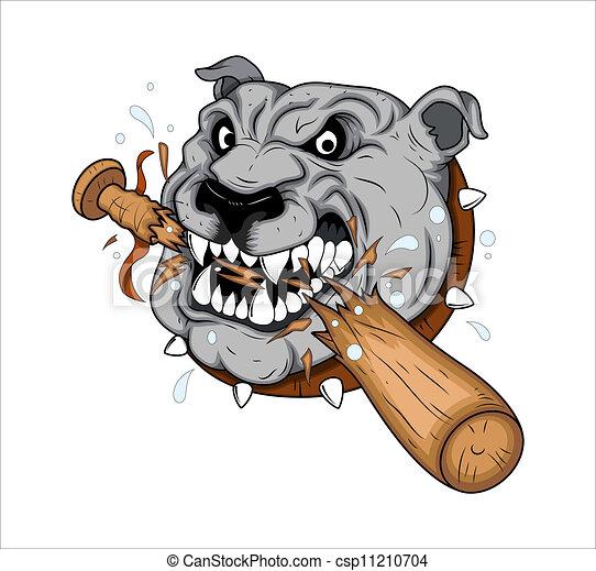 tatouage, vecteur, chien, mascotte. tatouage, art, chien, créatif
