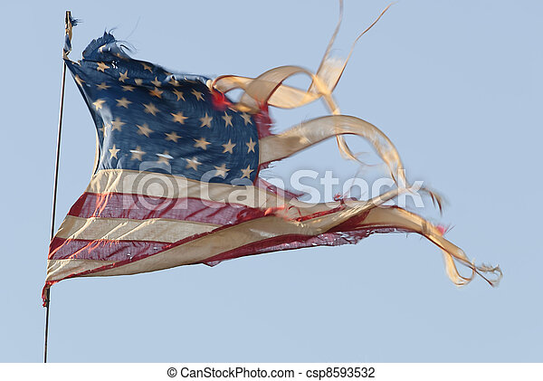 tattered american flag tattered ripped and weathered american flag
