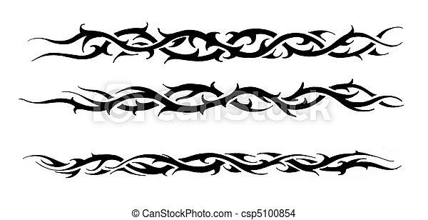 Tattoo art sketch of a black tribal bracelet