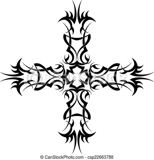 tattoo christian cross vector art vector search clip art rh canstockphoto co uk maltese cross vector art celtic cross vector art