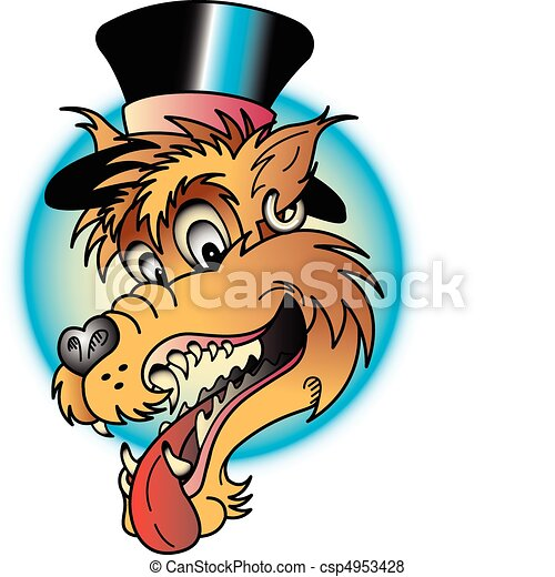 tattoo design wolf clip art tattoo design of a laughing vector rh canstockphoto com