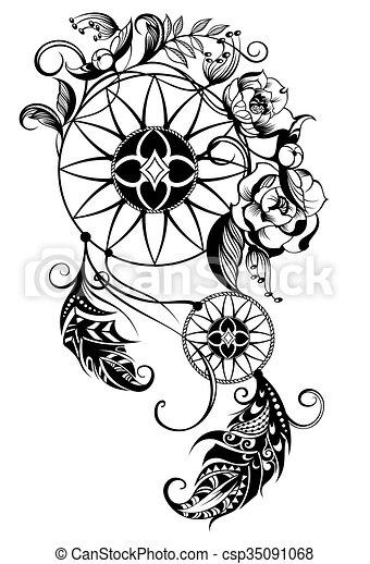 tattoo dreamcatcher indian dream catcher vector rh canstockphoto com dream catcher vector art free dream catcher victor idaho