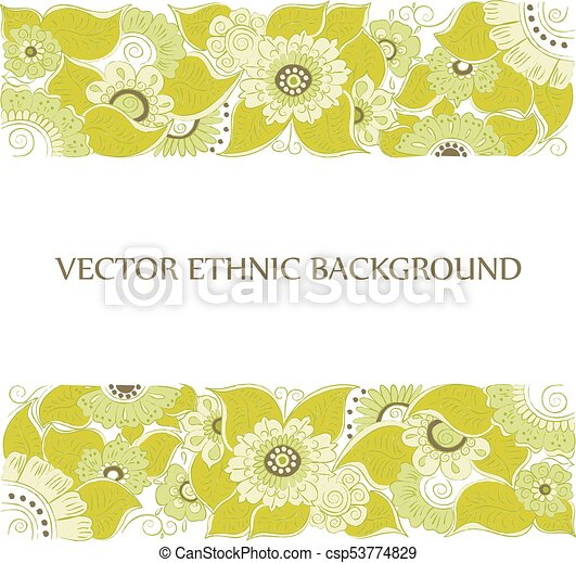 Tattoo Henna Background Vector Abstract Tattoo Background Isolated
