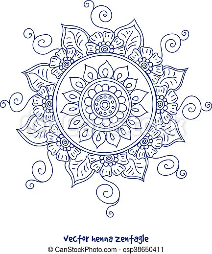 Tattoo Henna Mandala Vector Abstract Mandala Of Tattoo Henna