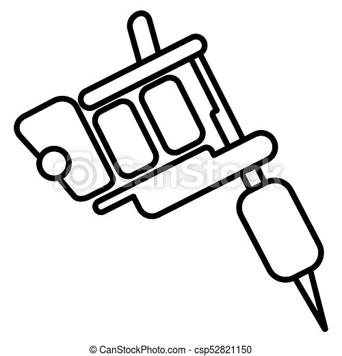 illustration of tattoo machine icon on white background clipart rh canstockphoto com tattoo gun vector png tattoo machine vector download
