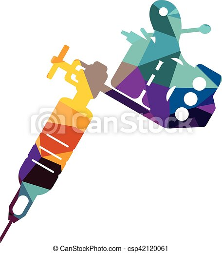 tattoo machine two coil figure vector illustrator isolated clip rh canstockphoto com
