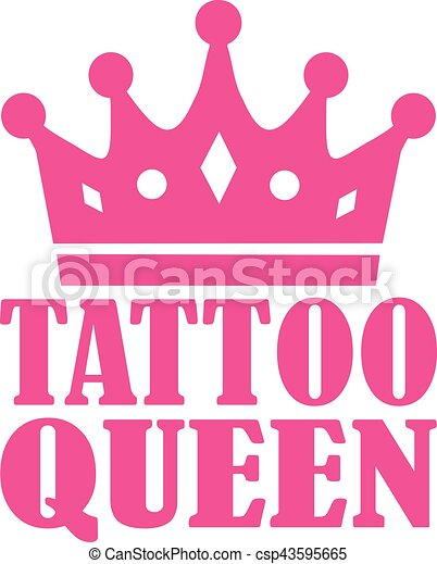 Tattoo Queen With Crown
