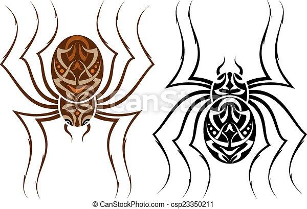 Tattoo Spider Design - csp23350211
