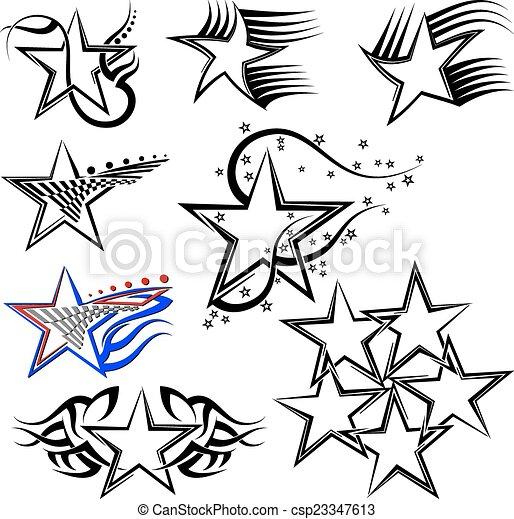 Tattoo Star Design - csp23347613