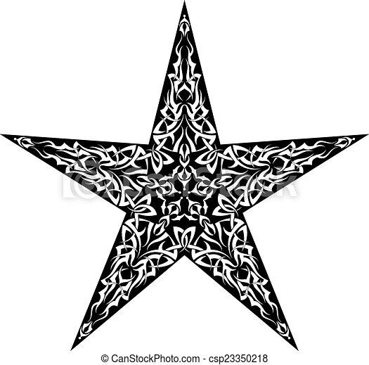 Tattoo Star Design - csp23350218