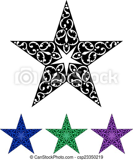 Tattoo Star Design - csp23350219