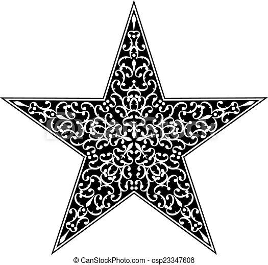 Tattoo Star Design - csp23347608