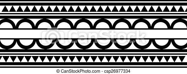 Tatuagem Estilo Maori Pulseira Pretas Polynesian Branca