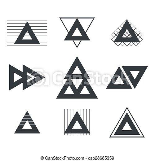 tatuagem jogo linhas logotypes tri ngulos hipster. Black Bedroom Furniture Sets. Home Design Ideas