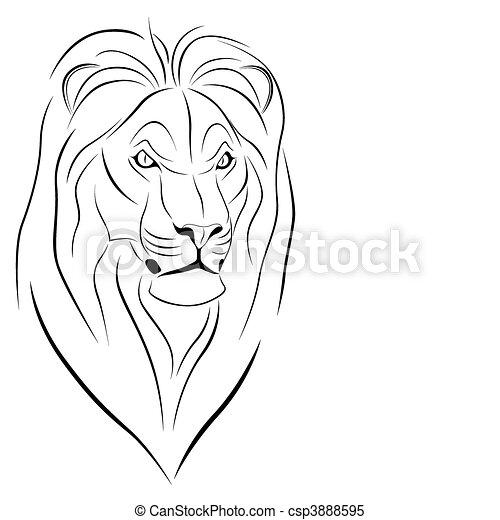 tatuagem leão tatuagem abstratos leão forma