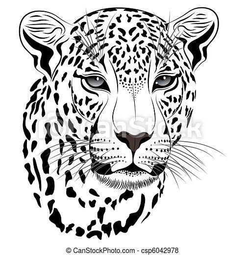 tatuagem, leopardo - csp6042978