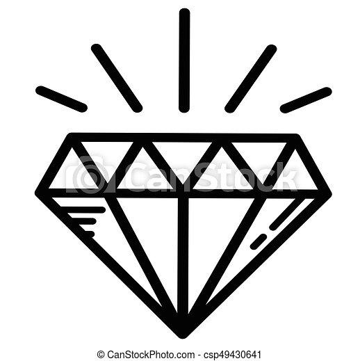 Tatuagem Luminoso Diamante Luxo Tatuagem Esboco Riqueza