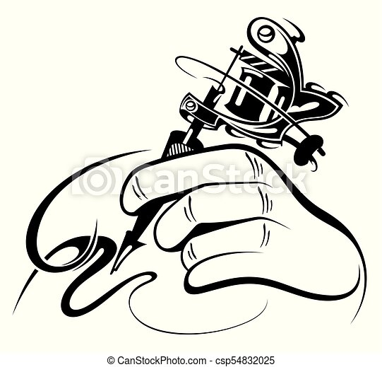 Tatuagem Manual Mao Maquina Desenho Pretas Branca