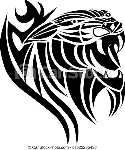Tatuagem Pantera Desenho Vindima Engraving Tatuagem
