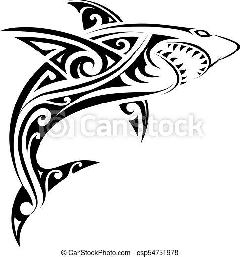 Tatuagem Tubarao Forma Tatuagem Tubarao Elementos Tribal