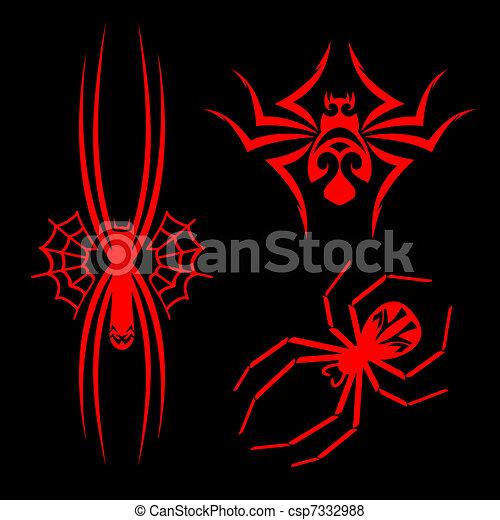 tatuaggi, ragni - csp7332988