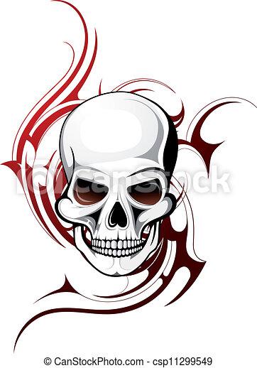 tatuaggio, cranio - csp11299549