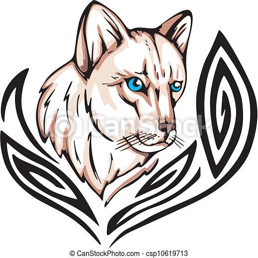 Tatuaggio gatto tatuaggio illustration colorare for Gatto clipart